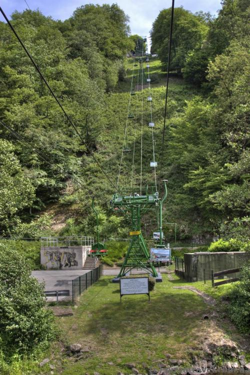 Cable car to the Burg Castle