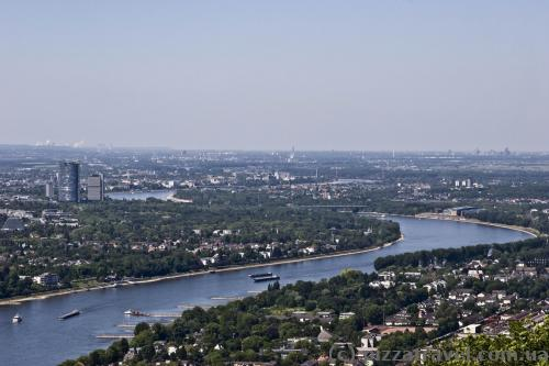 View of the Rhine and Bonn from the Drachenburg Castle