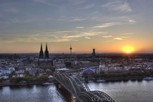 View of Cologne from observation deck