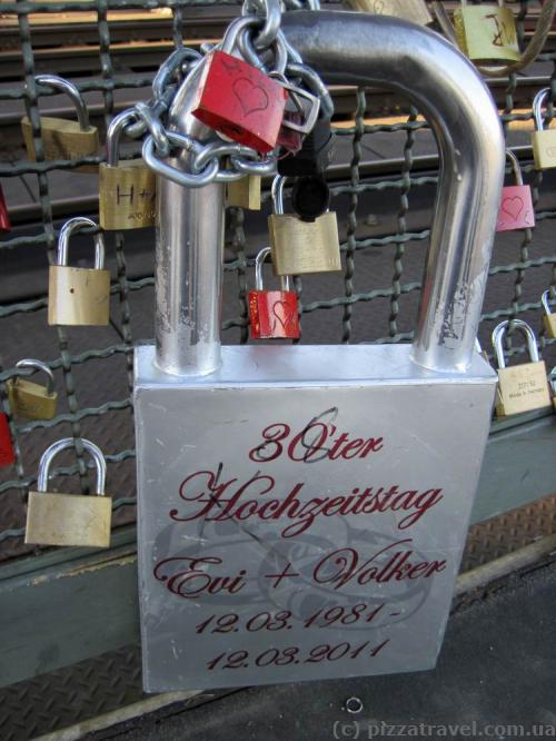 Locks on the Hohenzollern bridge in Cologne