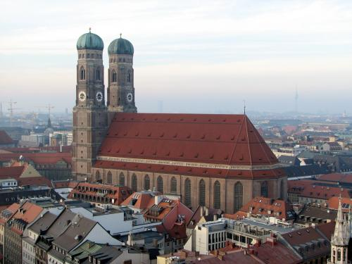 Frauenkirche in Munich as seen from St. Peter