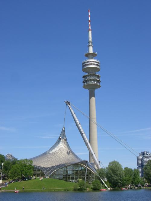 TV tower in the Olympic Park in Munich