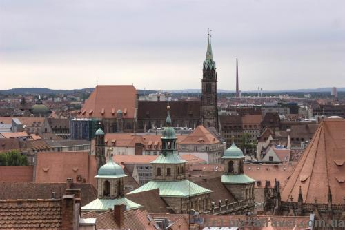 Вид на старый город с Бурга (Нюрнбергской крепости)
