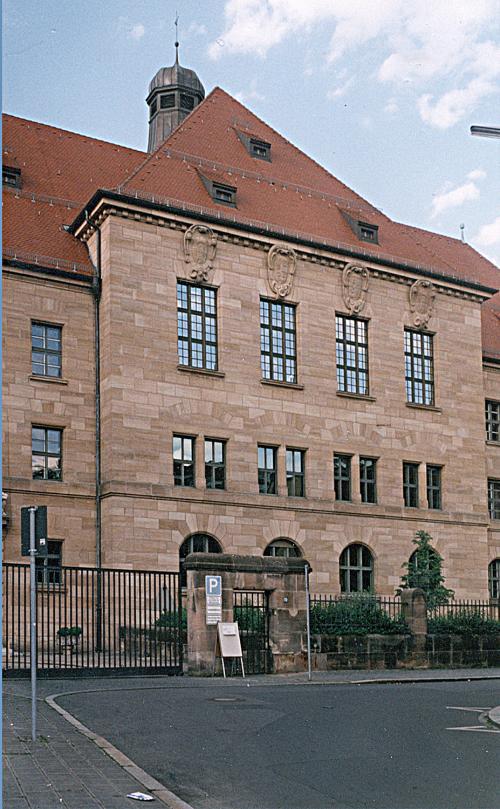 Building of the jury, where the Nuremberg Tribunal was held.