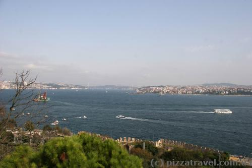 View of Bosphorus from Topkapi palac