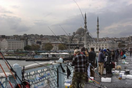 Fishermen on the Galata bridge