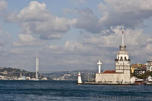 On the way to Princes' Islands - Maiden tower