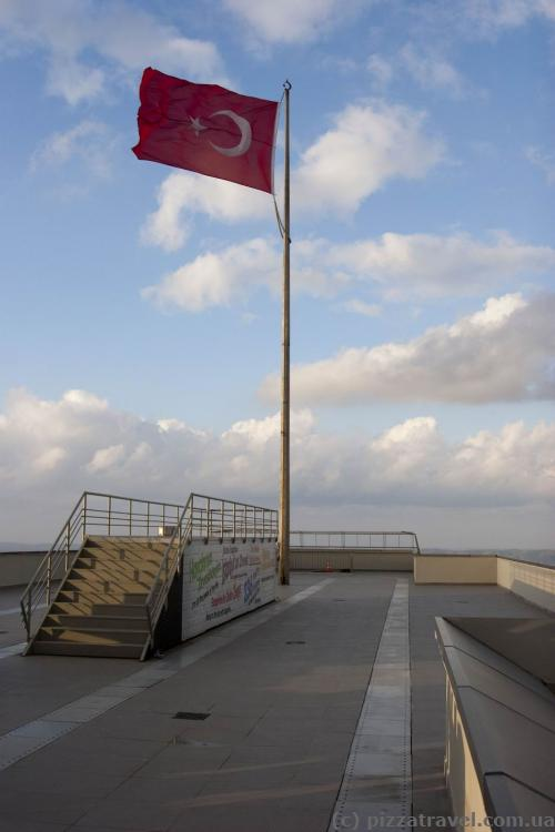 Observation deck on the roof of the Sapphire skyscraper in Istanbul
