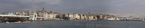 On that side of the Galata bridge