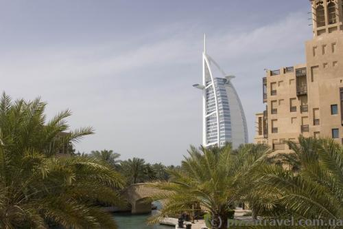Burj Al Arab view from Madinat Jumeirah