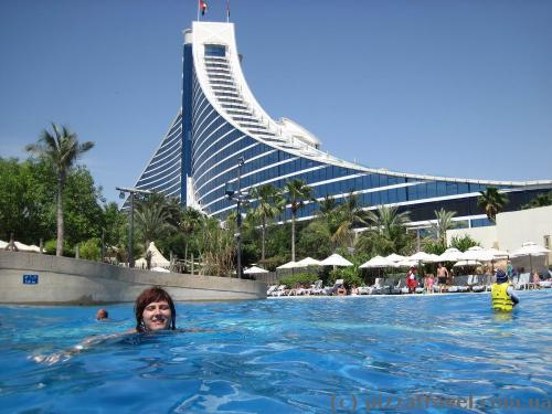 Large pool at Wild Wadi