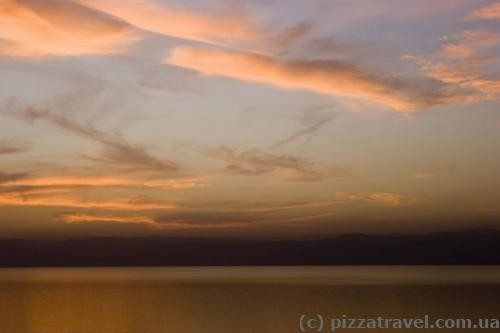 Sunset at the Dead Sea