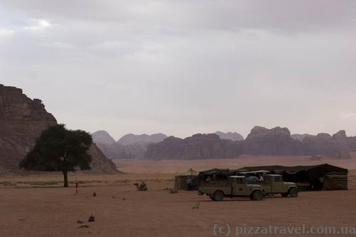 Camp in Wadi Rum where you can stay overnight