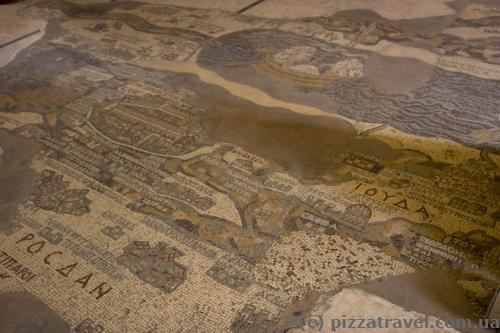 Mosaic map of the Holy Land of VI century