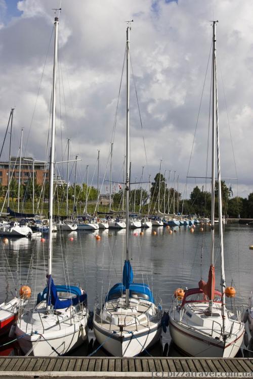 Стоянка для яхт в Копенгагене