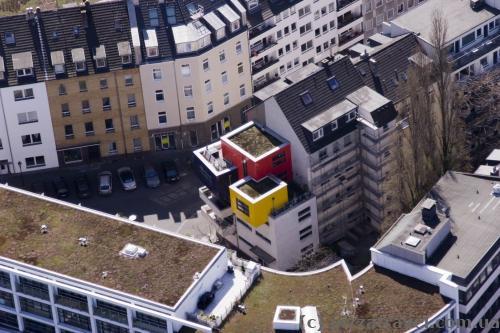Необычные балкончики в Дюссельдорфе