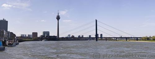 Panorama of Duesseldorf from the old city