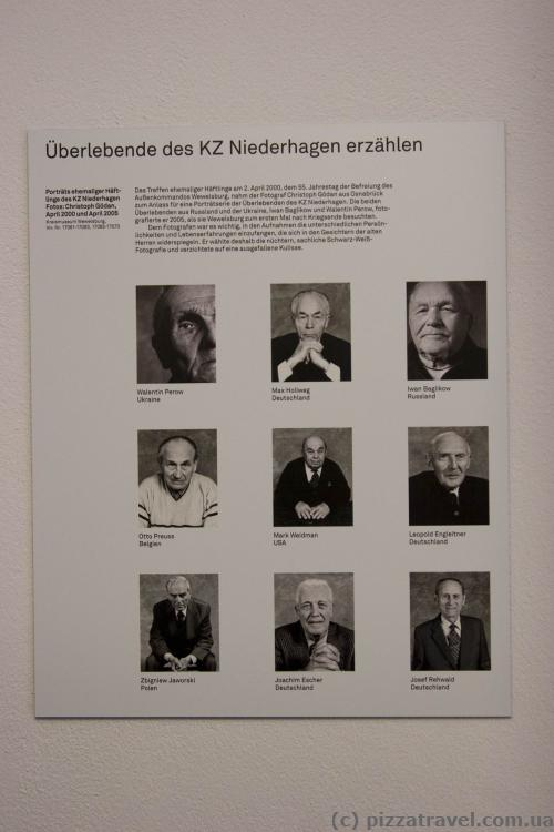 Former prisoners, who visited the castle in the 2000s.