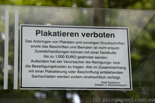 Молодці німці, за рекламу на зупинках штраф 1000 євро