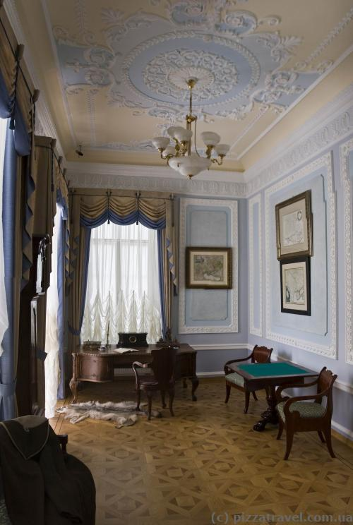 Interiors of the Kyrylo Rozumovsky Palace in Baturin