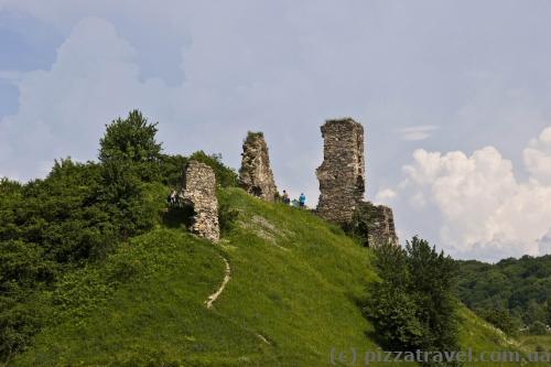 Руины замка в Губкове