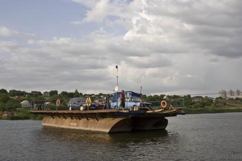 Переправа через Южный Буг в Южноукраинске