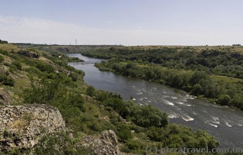 Вид на Южный Буг около Южноукраинска