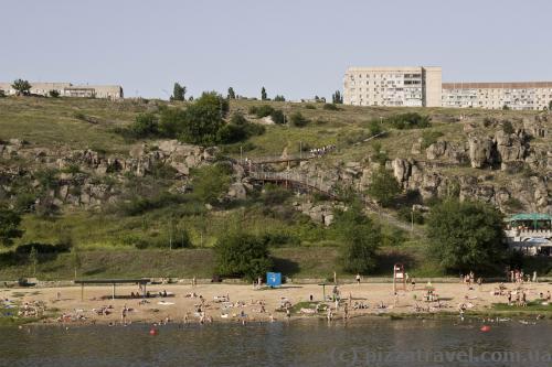 Городской пляж в Южноукраинске