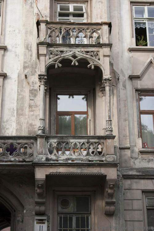 Balcony in the house on the Stefanyka Street